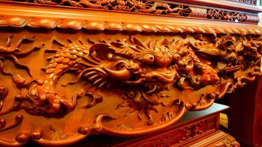 Bàn thờ tứ linh gỗ hương đá (10)