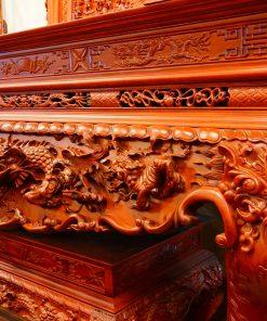 Bàn thờ tứ linh gỗ hương đá (6)