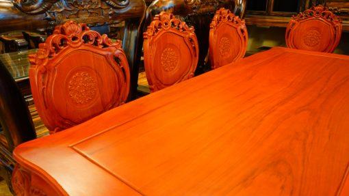 bàn ghế ăn 9 món gỗ gõ đỏ (1)