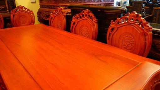 bàn ghế ăn 9 món gỗ gõ đỏ (2)