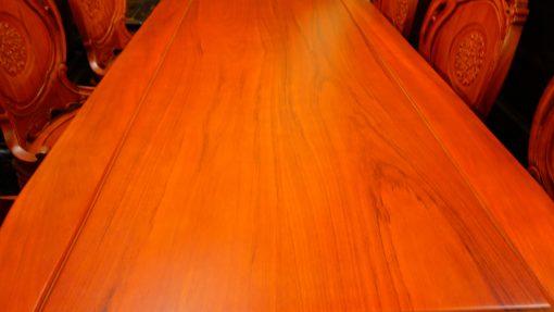 bàn ghế ăn 9 món gỗ gõ đỏ (6)