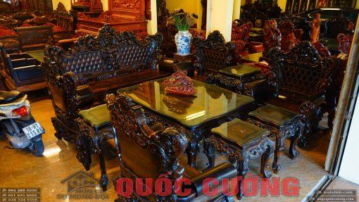 bộ bàn ghế hoàng gia gỗ mun (2)