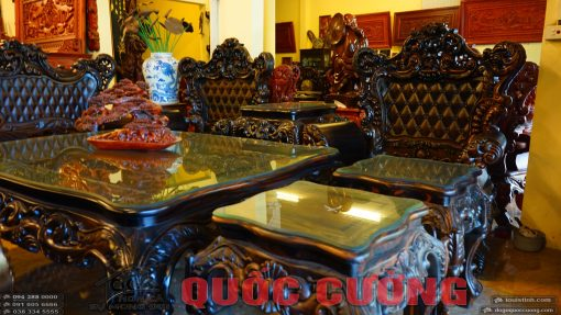 bộ bàn ghế hoàng gia gỗ mun (5)
