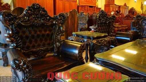 bộ bàn ghế hoàng gia gỗ mun (7)