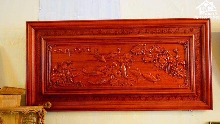 tranh tường cá chép (1)