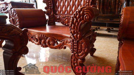 chi tiết bệ chân ghế hoàng gia gõ đỏ