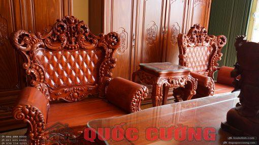 Hai ghế đơn bàn ghế hoàng gia gõ đỏ