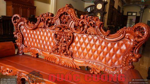 Ghế đoản dài bàn ghế hoàng gia gỗ gõ đỏ