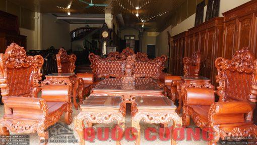 Tổng thể bàn ghế hoàng gia gõ đỏ