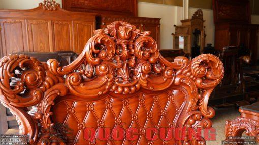 Chi tiết hoa văn ghế đơn bộ hoàng gia gõ đỏ