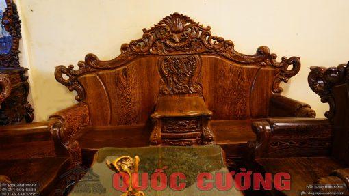 Ghế dài bàn ghế hoàng gia mun đuôi công