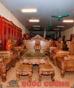 Tổng thể bộ bàn ghế hoàng gia gỗ mun
