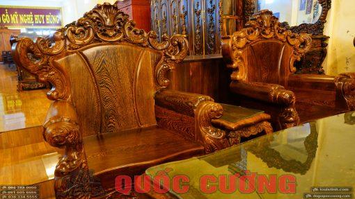2 ghế đơn bàn ghế hoàng gia