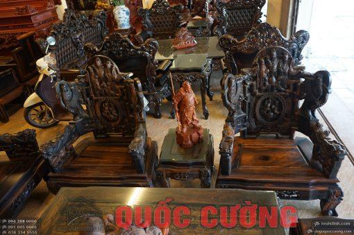 bộ bàn ghế tam đa gỗ mun (12)