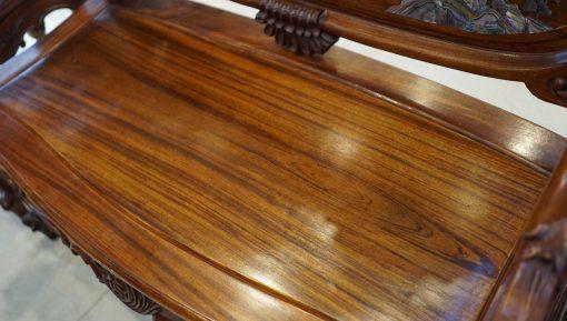 bộ bàn ghế louis gỗ gụ ta khảm ốc