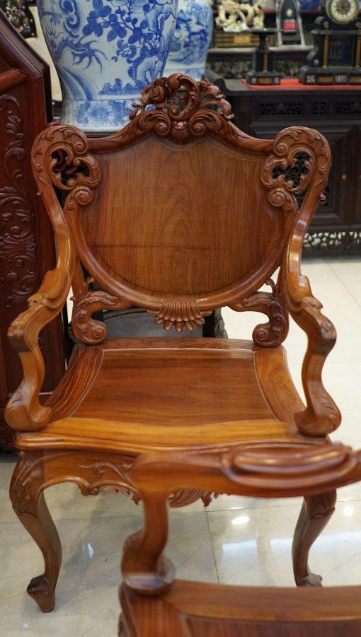 bàn ghế louis gỗ cẩm