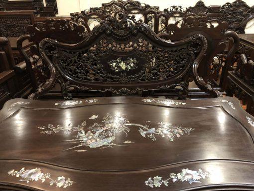bàn ghế louis tựa thủng khảm ốc (4)
