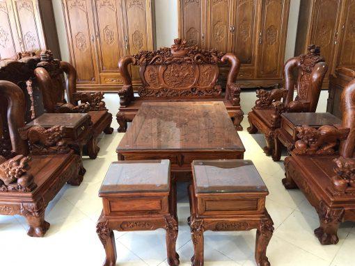 bàn ghế nghê đỉnh gỗ hương vân (3)