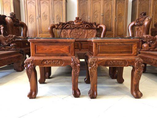 bàn ghế nghê đỉnh gỗ hương vân (4)