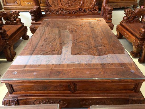 bàn ghế nghê đỉnh gỗ hương vân (7)