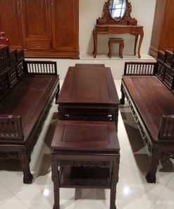 bàn ghế trường kỷ đẹp song tiện