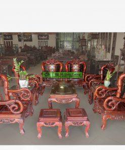 Bộ bàn ghế trúc cổ gỗ gụ 13 món