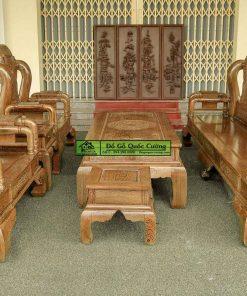 Bộ bàn ghế tần hộp gỗ mun