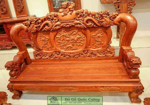 Hình ảnh chi tiết chiếc ghế dài (sofa gỗ)